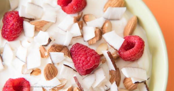 Coconut Almond Raspberry Yogurt