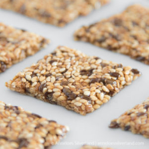 Crunchy Sesame and Flax Seed Candies
