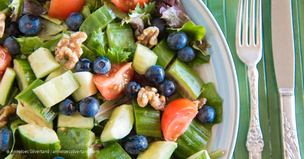 Mum's Blueberry and Walnut Salad