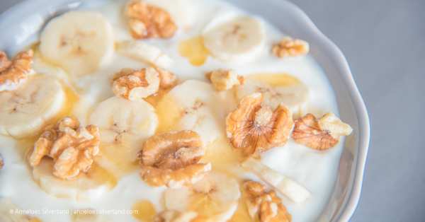 Banana Walnut and Honey Yoghurt Bowl