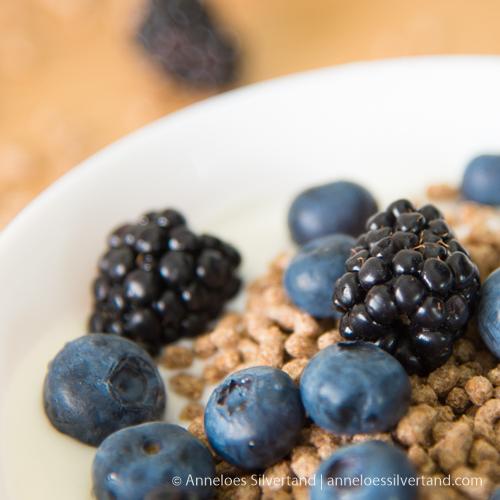 Black and Blueberry Yoghurt Breakfast