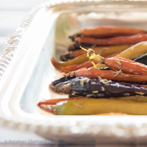 Grilled Honey Glazed Rainbow Carrots